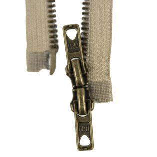 Reißverschluss Opti - M60 - 80cm - Werraschieber - Zweiwege - teilbar - beige