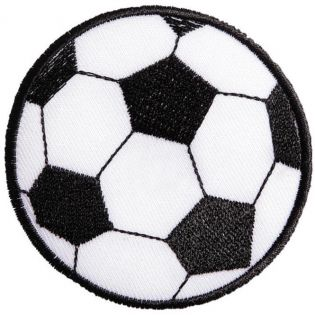 Applikation - Fussball - schwarz-weiss