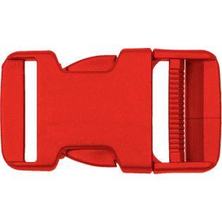 Steckschnalle - Kunststoff - 30 mm - rot
