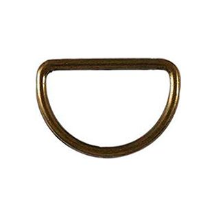 4 D-Ringe - 20 mm - altgold