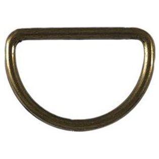 4 D-Ringe - 30 mm - altgold
