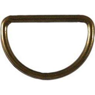 2 D-Ringe - 40 mm - altgold