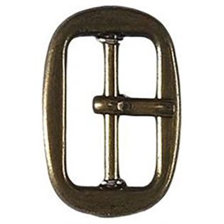 Gürtelschnalle - Metall - 25 mm - altgold