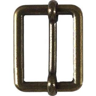 Leiterschnalle - Metall - altgold - 20 mm