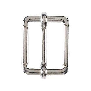 Leiterschnalle - Metall - silber - 20 mm