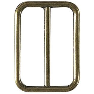 Leiterschnalle - Metall - altgold - 30 mm