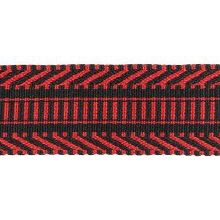 Gurtband - 38 mm - Ethno - rot-schwarz