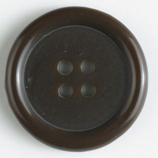 4-Loch-Knopf - 15 mm - dunkelbraun