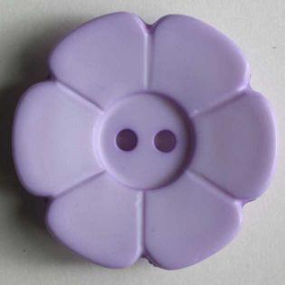 2-Loch-Knopf - 15 mm - Blüte - flieder