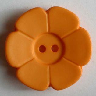 2-Loch-Knopf - 15 mm - Blüte - orange