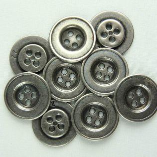 4-Loch-Knopf - 20 mm - silber