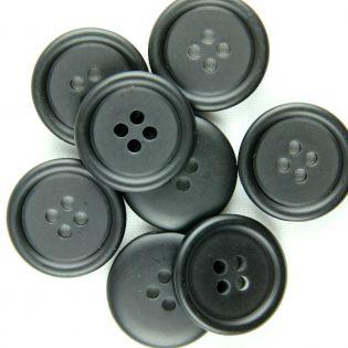 4-Loch-Knopf - 20 mm - schwarz