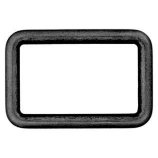 Rechteck-Ring - 25 mm - Metall - schwarz