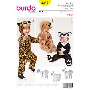 Schnittmuster - burda style - Tieroverall – Löwe – Leopard – Panda – Kopfbedeckung