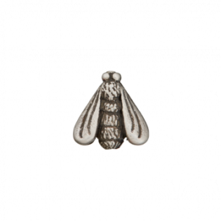 Kordelstopper - Zierteil metallisiert - Fliege - 18 mm - silber