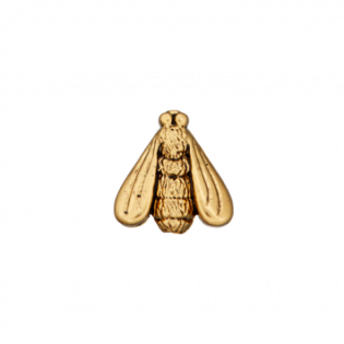 Kordelstopper - Zierteil metallisiert - Fliege - 18 mm - gold