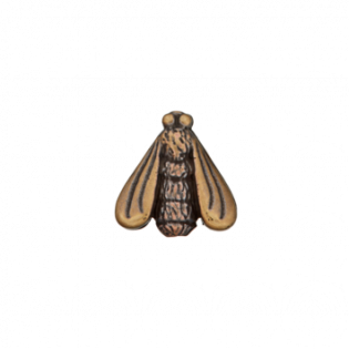 Kordelstopper - Zierteil metallisiert - Fliege - 18 mm - bronze