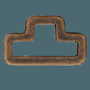D-Ring - 40 mm - Metall - brüniert