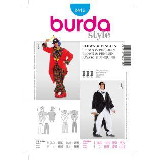 Schnittmuster - burda style - Clown + Pinguin