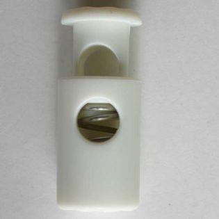 Kordelstopper - 23 mm - weiß