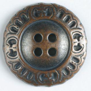 4-Loch-Knopf - 18 mm - Metallknopf - bronze