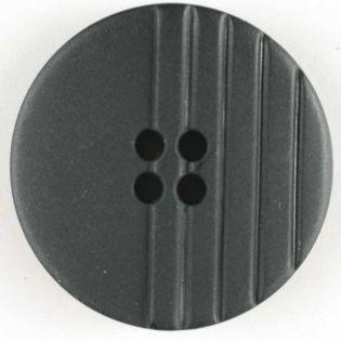 4-Loch-Knopf - 28 mm - schwarz mit Linien