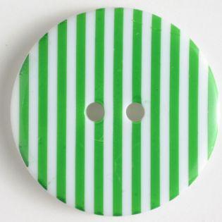 2-Loch-Knopf - 20 mm - Streifen - grün