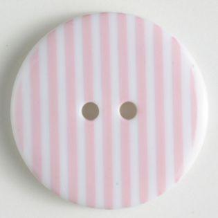 2-Loch-Knopf - 20 mm - Streifen - rosa