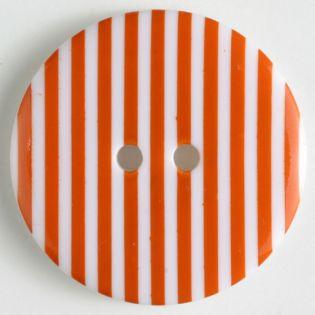2-Loch-Knopf - 20 mm - Streifen - orange