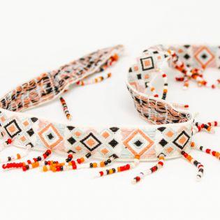Pocahontas-Borte - Perlenkordel Indisch - 10 mm
