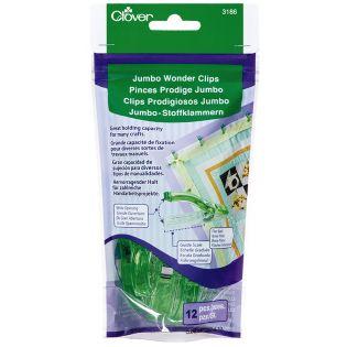 Clover - Jumbo Wonder Clips - 12 Stück - grün