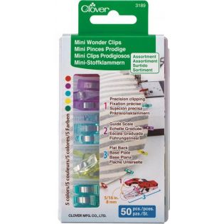 Clover - Mini Wonder Clips - 8 mm - 50 St.