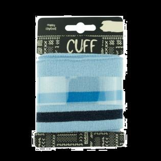 Strickbündchen - Cuff - geringelt - blau