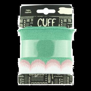 Strickbündchen - Cuff - Wellen - lindgrün