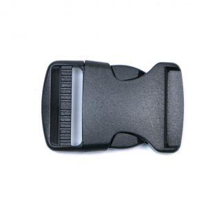 Steckschnalle - 38 mm - schwarz