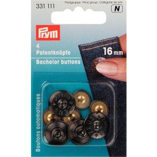 Prym - Patentknöpfe Zeus - 16mm - schwarz