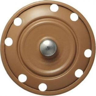 Annähdruckknopf - 35 mm - beige