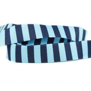 Webband - Ringelband - blau