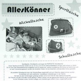 Schnittmuster - Farbenmix - AllesKönner - individuelle Tasche