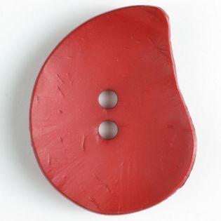 2-Loch-Knopf - 50 mm - Blatt - rot