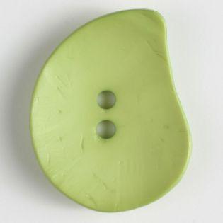2-Loch-Knopf - 50 mm - Blatt - grün