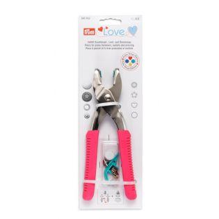 Prym Love Vario-Zange mit Loch-/Color Snaps Werkzeug - pink