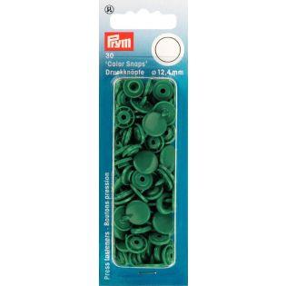 Prym Color Snaps Druckknöpfe 30 Stück rund 12,4mm - gras