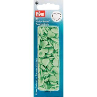 Prym Color Snaps Druckknöpfe 30 Stück Herz - hellgrün