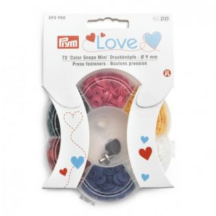 Prym Love - Color Snaps Mini - 6 Farben + Werkzeugset