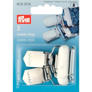 Prym - 2 Combi-Clips - 25mm - silber