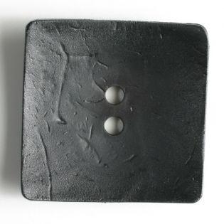 2-Loch-Knopf - 60 mm - Viereck - schwarz