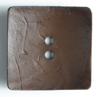 2-Loch-Knopf - 60 mm - Viereck - braun