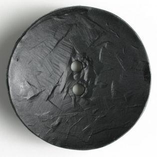 2-Loch-Knopf - 60 mm - rund - schwarz