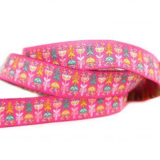 Webband - Feeling Good - Rumbablüten - pink